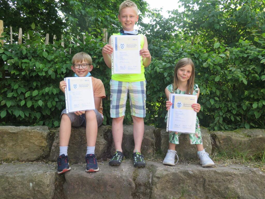 Erfolgreiche Teilnahme an der diesjährigen Matheolympiade